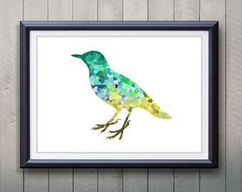 Green Bird Animal Print - Home Living - Animal Painting -  Bird Animal Art - Wall Decor - Home Decor, House Warming Gifts