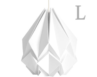 Large origami lamp handmade in paper | Oversize pendant light | Perfect for your living room or bedroom | Available in different colors