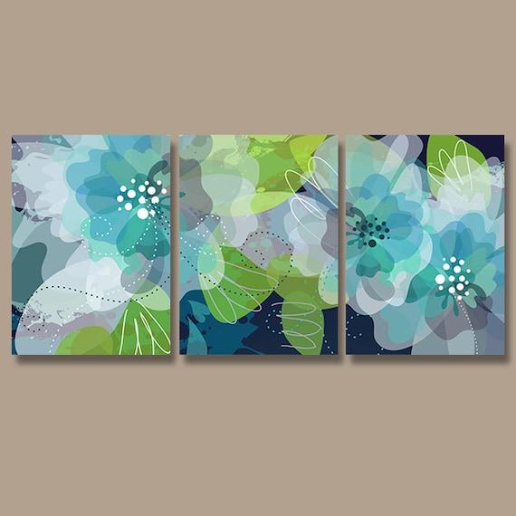 WATERCOLOR Wall Art Watercolor Flower Art CANVAS or Print