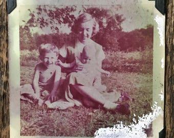 Original Vintage Color Photograph Happy Times 1955