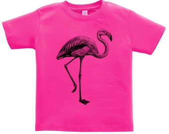 CLEARANCE, Kids Clothing, Toddler, Flamingo Tshirt, Pink Flamingo T Shirt, Flamingo Tee, Bird, Animal, Youth