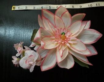 Hand made hair flower rockabilly tiki