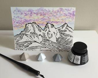 Three Sisters Linocut Cards