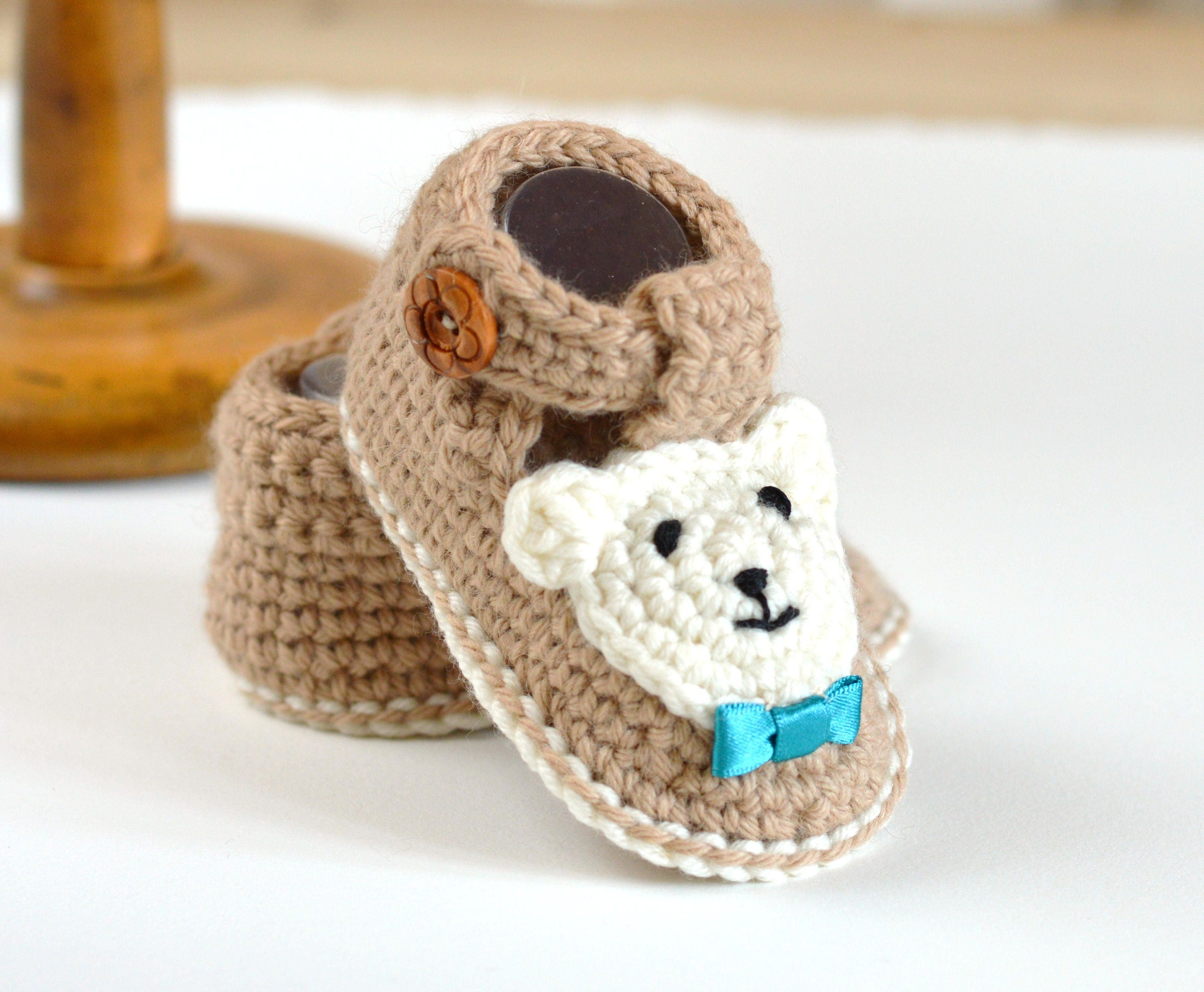 CROCHET PATTERN Baby Booties Bear Booties for Boys AND Girls