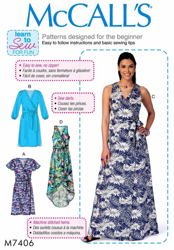 Learn to Sew a Wrap Dress Pattern Easy Beginner Sewing Dress