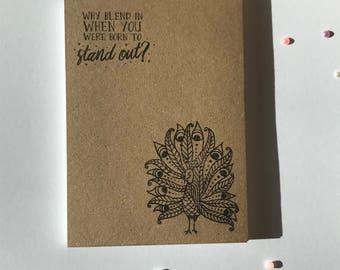 Handstamped Notebook - Pencil - Various