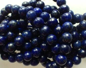 set of 20 blue lapiz lazuli beads Golden chandelier gemstone 4mm