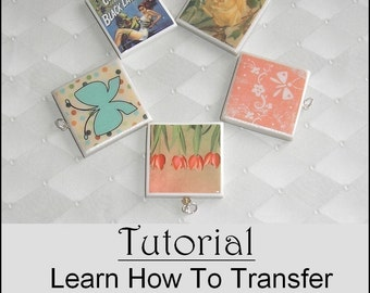 Tutorial - Learn How to Transfer Images onto Polymer Clay - Instant Download with a FREE Mixed Image Digital Collage Sheet