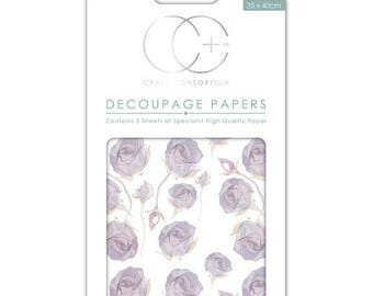 Paper patch (3 sheets) lilac pink - CCDECP0206
