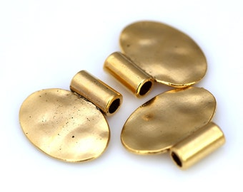 2 pcs 24 x 22 mm (4 mm hole) gold plated alloy finding charm pendant 895