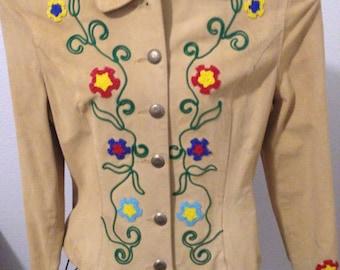 Sale-Vintage Phoenix USA Frontier Western beaded jacket
