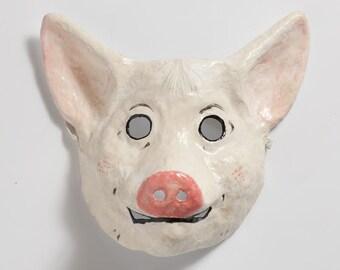 Schwein-Papier-Maske