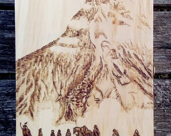 The Lord of the Rings inspired Fellowship pyrography KEYHOLDER box