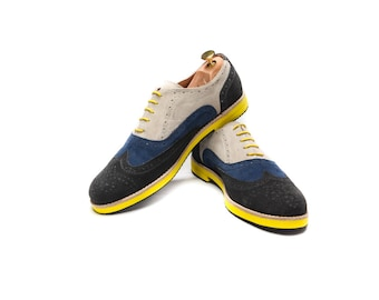 Men's leather shoes/ Oxford handmade shoes/ summer men's  shoes/ Suede shoes/ Gray shoes/ Colorful shoes/ Comfortable shoes/ FREE SHIPPING