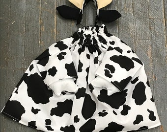 Goose Clothes Complete Holiday Goose Outfit Halloween Cow Dress and Hat