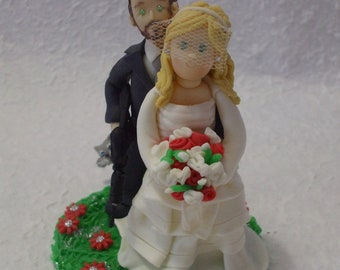 Personalized Softair wedding cake topper