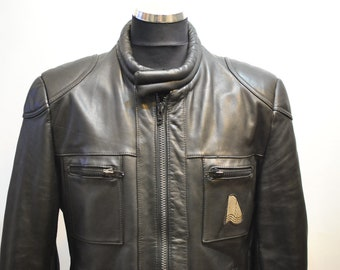 Vintage KRAWEHL MOTORCYCLE LEATHER jacket , men's biker jacket...........(683)