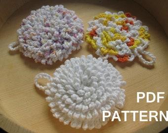 Ultra Nubby Scrubby Tawashi Dishcloth Crochet Pattern