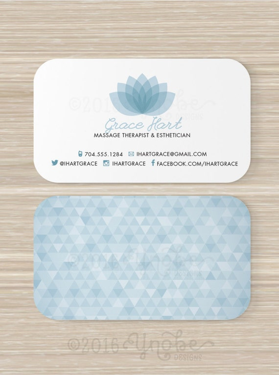 Spa massage therapist esthetician business card reheart Choice Image