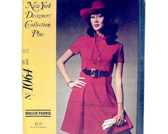 1960s Vintage Sewing Pattern - Mod Dress - McCall's N 1064 New York Designer Mollie Parnis / Size 12 / UNCUT FF