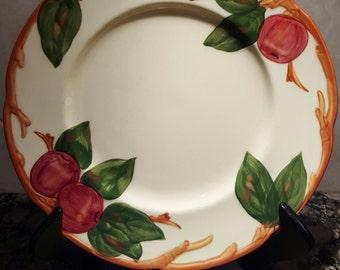 """Vintage Franciscan Apple Dish Vintage Salad Plate 8"""", TV Back Stamp circa 1958-1973"""