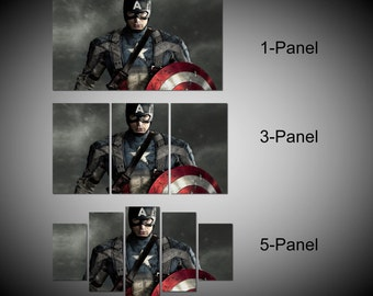 Framed Captain America Marvel Avengers Age of ultron Super Hero Wall Canvas Art - Ready to Hang