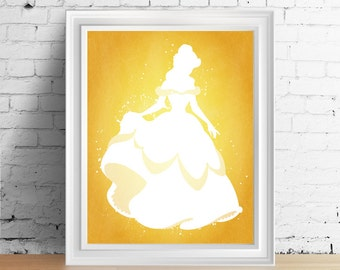 Disney Belle downloadable digital art print