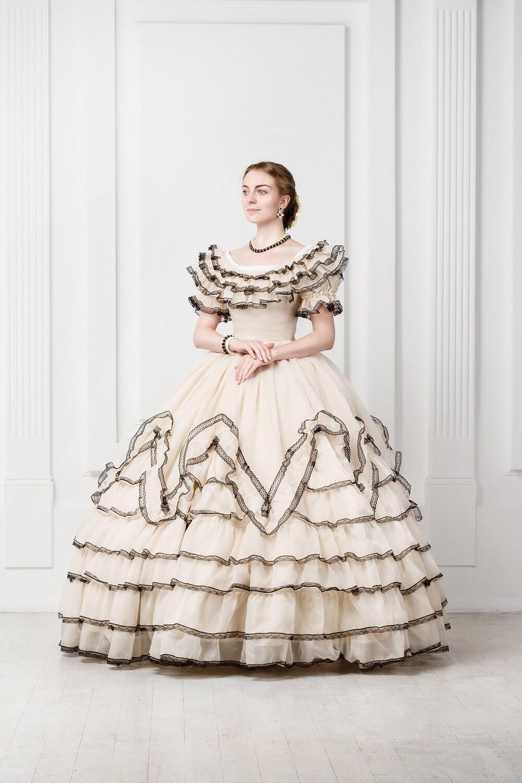 Brautkleid Scarlett O\'Hara Stil 19. Jahrhundert