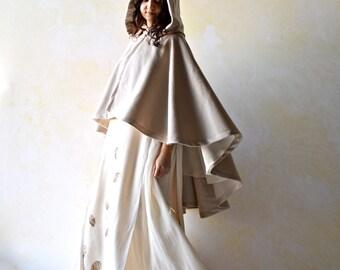 cape manteau ivoire cape de mariage maternit cap femmes. Black Bedroom Furniture Sets. Home Design Ideas