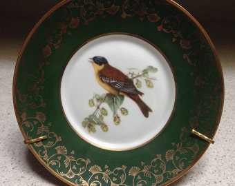Limoges Plate with Sparrow