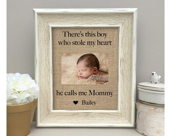 ON SALE Mother's Day Gift Mom Gift There's this boy who stole my heart print Mom's Birthday