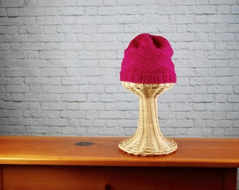 Pink Knit Hat - Zig Zag Hat - Hand Knit Pink Hat - Hand Knit Hat - Knit Hat - Winter Hat - Washable Knit Hat - Hand Knit Women's Hat