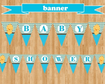 Baby Shower | Chick Banner [INSTANT DOWNLOAD)