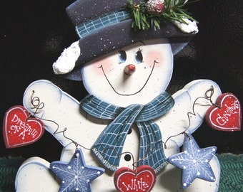 Dreamin of a White Christmas Snowman - Wood Christmas Decoration - Christmas Sign