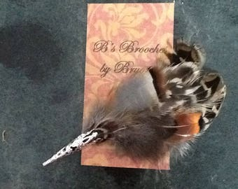 Feather Brooch (large)