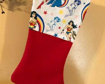 Wonder Woman Personalized Christmas Stocking
