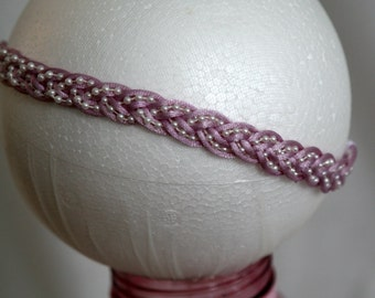 Stretch Lavender and Pearl Headband