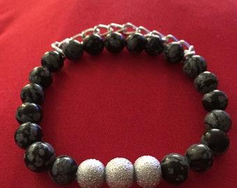 Larvikite Stack Bracelet