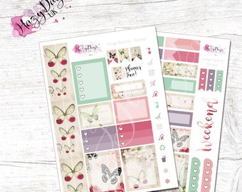 Vintage Butterfly - Personal Kit. Planner Stickers for ECLP, Happy Planner, BuJo, TN etc.