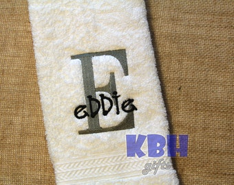 Personalized Hand Towel for Boys or Men