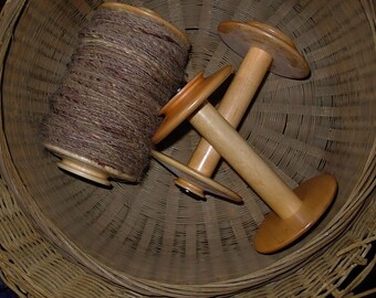 Kromski Unfinished  Bobbin Holds 50 Percent More Yarn Fits Many Wheels BUY Extra They Ship FREE