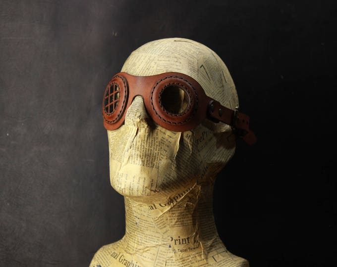 STEAMPUNK LEATHER GOGGLES