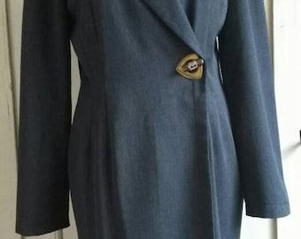 Vintage grey cross over dress