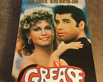 20th Anniversary Edition Grease VHS With Script and Soundtrack   1978