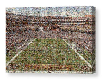 Amazing Mosaic Art Print of Washington's FedEx Field made of hundreds of Washington player card images, all the greats included!