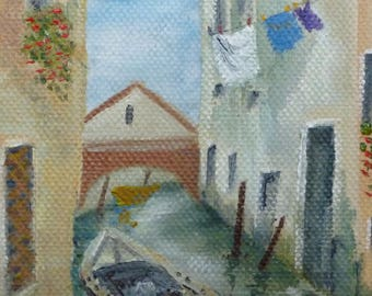 Tranquil Canal, Venice  SOLD