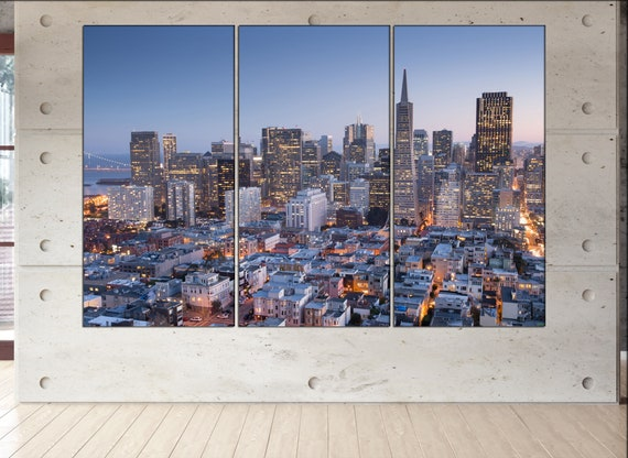 San Francisco wall decor art  San Francisco black white  San Francisco canvas wall art  canvas wall art