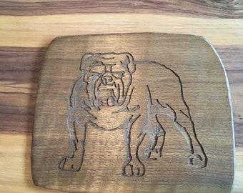 British bulldog  plaque