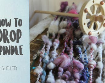 SPINDLING Shelled Art Yarn - How to Spin Art Yarn on a Drop Spindle - One HD Video Tutorial from How to Spin Yarn