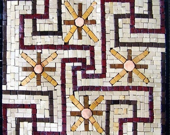 Accent Mosaic of a geometric pattern